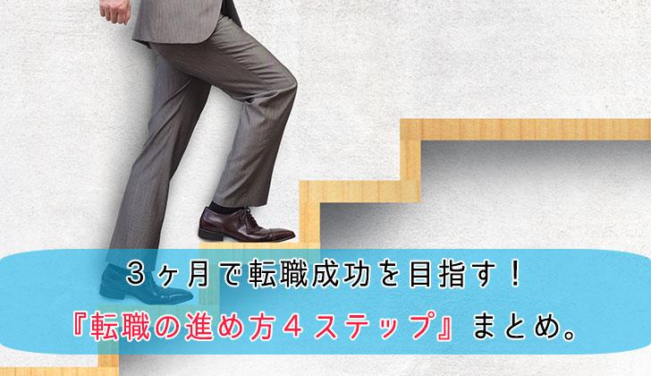 3ヶ月で成功を目指す! 『転職の進め方4ステップ』まとめ。の画像